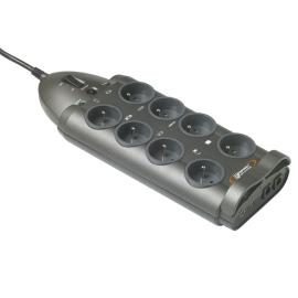 BLOC PARAFOUDRE 8PC FR+RJ45+TV